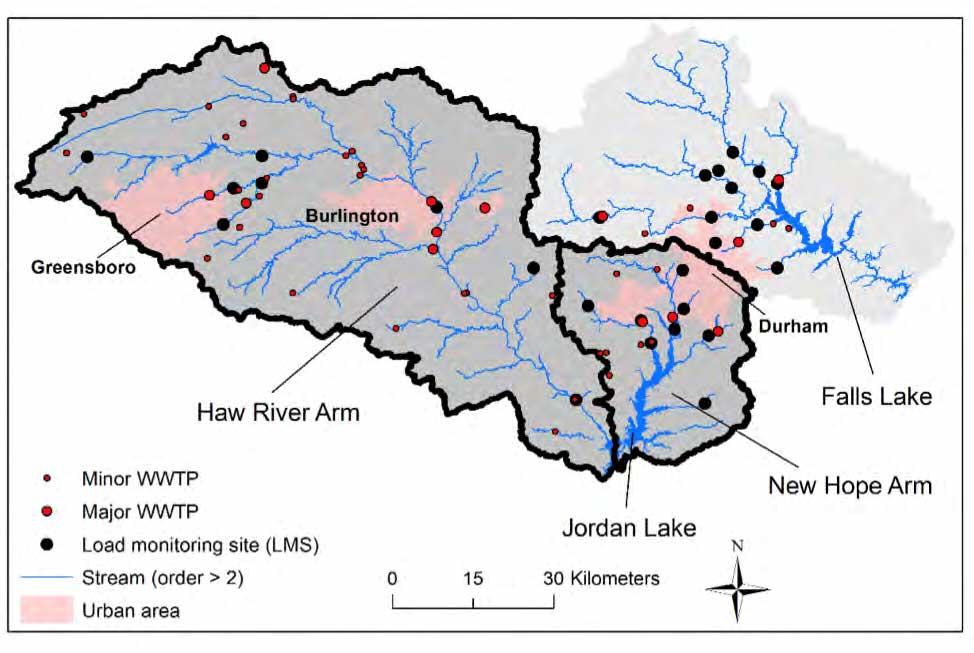 Jordan and Falls Lake watersheds