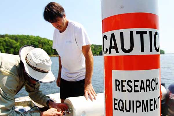 Research equipment in Jordan Lake